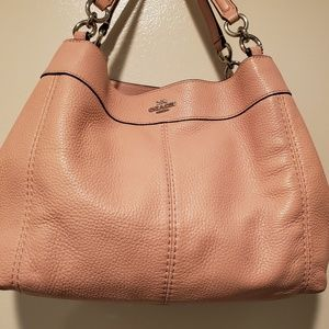 Coach Lexy Pink Leather Satchel